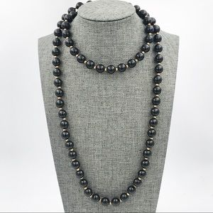 DIRECTION ONE Vintage Black Beaded Necklace